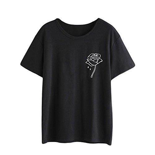 Pitashe T-Shirts Damen, Niedliche Mode Muster Shirts Tops Damen Sommer Sexy Pulli Damen Elegant Damen Kurzarm T Shirt Teenager MäDchen Hoodie MäDchen Oberteil Damen Kurzarm-Shirt