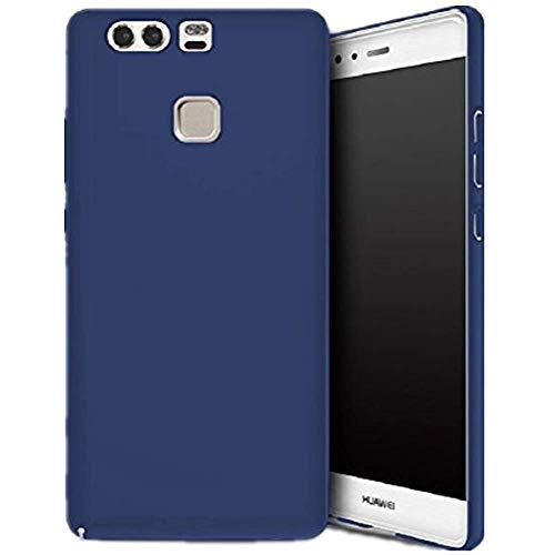 Compatible con Huawei P9, funda ultrafina, ultrafina, carcasa rígida para teléfono móvil, antigolpes, antihuellas, carcasa para Huawei P9 azul Talla única