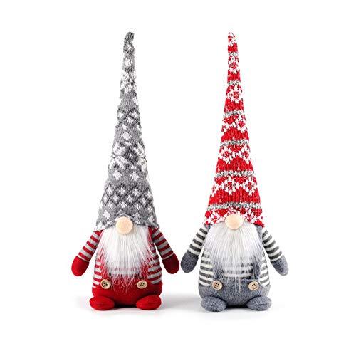 2 piezas de decoraciones de duendes de Halloween y Navidad, felpa enana hecha a mano, juguetes enanos, decoraciones de mesa, regalos de decoración navideña, decoraciones familiares Acción de Gracias