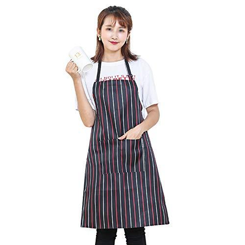 iKulilky Schürze Damen Männer,Verstellbare Schürze Wasserdicht Kochschürze Küchenschürze,Chefkoch Schürze Grillschürze Latzschürze Nackenband - # 6