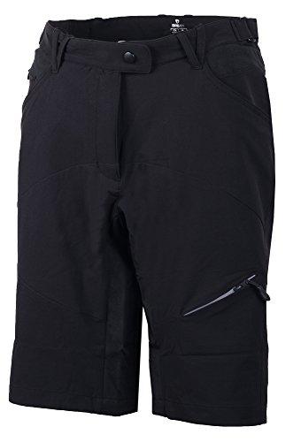 Briko Cresta Short pour Femme, Noir, XL, as0018