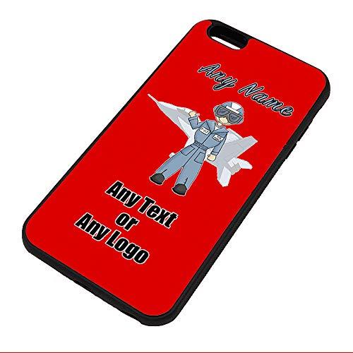 Funda para iPhone 6 Plus / 6S + iPhone de la Fuerza Aérea (Color Diseño de Ocupación) cualquier nombre Mensaje Único – Apple TPU Funda 6+ 6s+ Job Army Soldier Combate Avión Militar RAF Real Uniforme