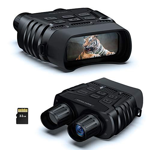 BOOVV Night Vision Binoculars, HD Digital Infrared Night Vision Goggles Scope for Adults Total Darkness for Spotting Hunting with 32 GB Memory Card