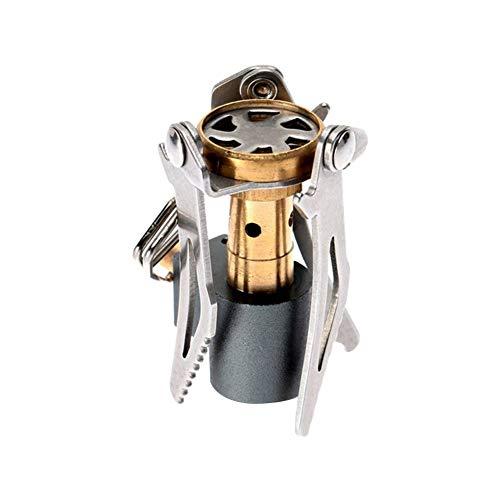 Estufa de gas plegable para camping, mini quemador de cocina al aire libre, senderismo, picnic, senderismo o accesorios – encendido piezoeléctrico – 3000 W