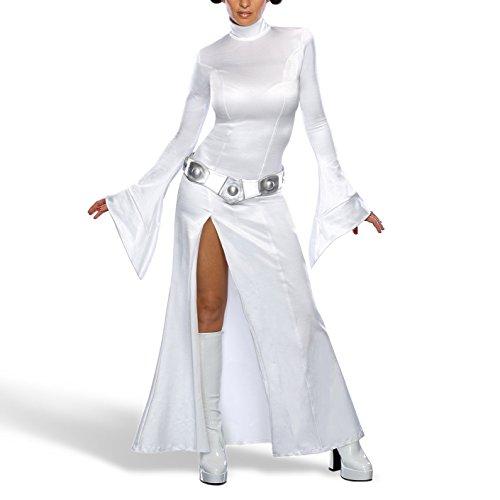 Disfraz de mujer sexy de princesa Leia.