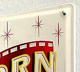 Kino Deko Popcorn Blechschild, 20 x 30 cm - 4