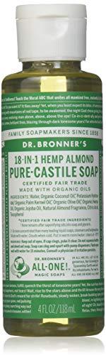 DR BRONNERS Almond Castille Liquid Soap, 4 FZ