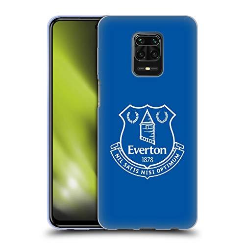 Head Case Designs Oficial Everton Football Club Azul Liso Cresta Carcasa de Gel de Silicona Compatible con Redmi Note 9 Pro/Redmi Note 9S