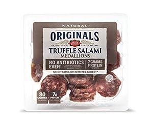 Dietz & Watson Originals No Antibiotics Ever Truffle Salami Medallions, 3 oz