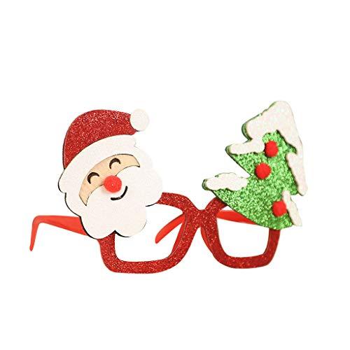 Yue668 - Juguetes de gafas de Navidad con diseo navideo, para decoracin navidea, 10 x 18 cm