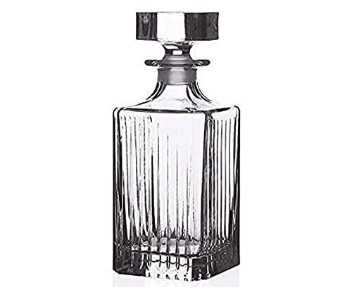 Rcr Crystal Cristal Timeless Decantador Cuadrado Vino Whisky Decantador