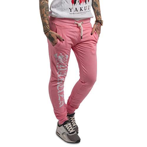 Yakuza Damen Jogginghose Daily Use Skinny Jogger GJOB-12153 Pink Melange Rosa, XXL