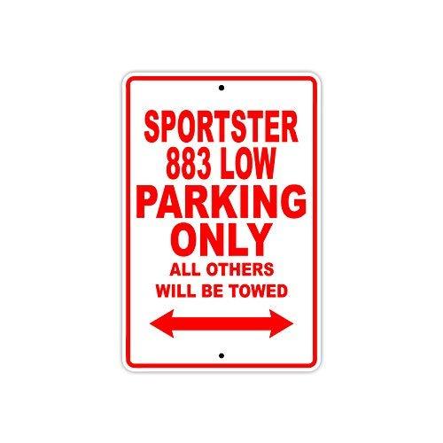 HARLEY DAVIDSON SPORTSTER 883 laag parkeren alleen alle anderen zal worden getrokken motorfiets Novelty Garage Aluminium teken 7