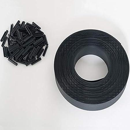 IDMarket - Kit de lamelles occultantes PVC Grises L.60 M pour Panneau grillagé