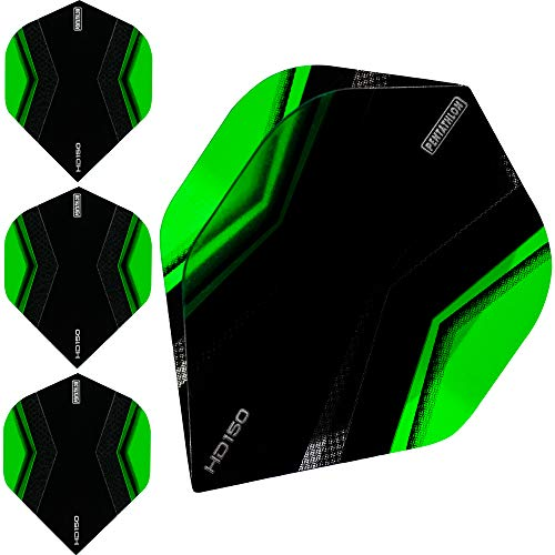 Pentathlon HD150 Dart Flights – Ultra dick – Standard – XWing – 10 Sets (30 Stück), grün