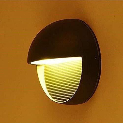 Sconce Wandlamp Heldere LED Waterdichte Wandlampen Binnen Of Buiten Antraciet Rond Metaal Aluminium Flush Wall Washer Nachtlampje 16 * 9CM Wandlampen
