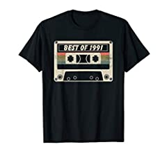 Vintage Best Of 1991, 29 Years Old, Made In 1991, Vintage 29th Birthday, 29 Years Old Birthday, Cassette 70s 80s Make A Cool Gift For Your Dad, Grandpa, Or Friends Who Are Turning 41 Years Old. Vintage 1991 T-Shirt For Men 29th Birthday Gift Ideas. J...