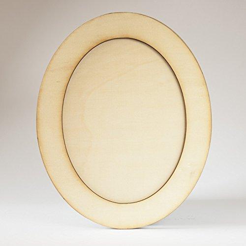 Holz Bilderrahmen Laser oval 12x8cm , Rahmen, Naturholz
