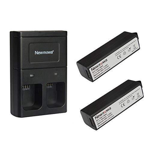 Newmowa Batería de Repuesto (2-Pack) y Kit de Cargador Doble para dji OSMO,OSMO+,OSMO Mobile Handheld PTZ Camera Battery