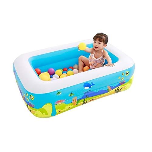 JCCOZ -URG - Piscina inflable para niños para bebé, para la familia, resistente al desgaste, mantener la temperatura Burbuja inferior engrosamiento 115 x 85 x 35 cm URG
