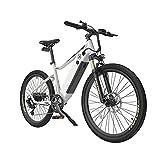 XGHW Bicicleta eléctrica de montaña eléctrica de 750 W, bicicleta eléctrica de 26 pies para adultos, con batería extraíble de 12,8 Ah, 20 MPH profesional de 7 velocidades (color: blanco)