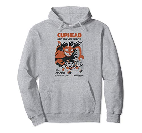 Cuphead Mugman Running From The Devil Graphic Hoodie