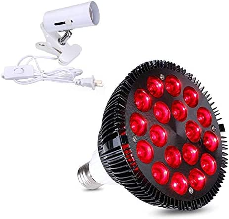 Red Light Therapy lamp 54 W 18 LED with Light Socket Combo Deep Red 660 and Near Infrared 850nm product image