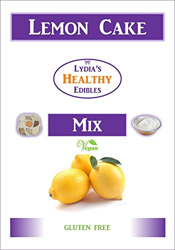 lydia's Gluten Free Lemon Cake Mix - for Cakes or Muffins - a delicious healthy snack food that can be made vegan - no soy or nuts - no additives or preservatives - with an easy baking recipe.