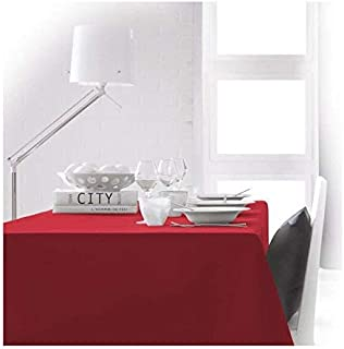 Today 256211 Nappe Polyester Pomme d'amour/Rouge 140 x 200 cm