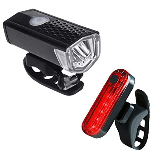 Bicicleta Frente Luz USB Recargable 300 Lúmenes 3 Modo Bicicleta Frente Bicicleta Bicicleta Luz Frente Linterna Bicicleta A1