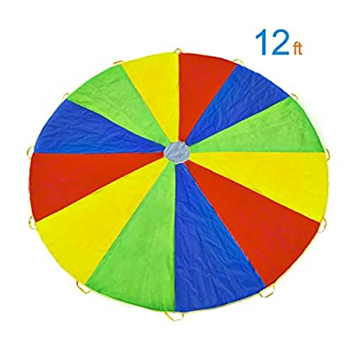 Rettebovon Parachute for Kids with 12 Handles M...