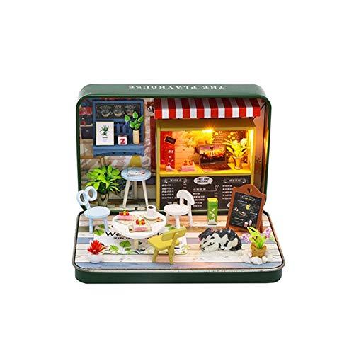 Chezhan -Doll Modelo de casa Muebles Montar Kits de la casa del Juguete de DIY Teatro de la Caja de muñecas Hechas a Mano Miniatura Creatividad (Color : S933)
