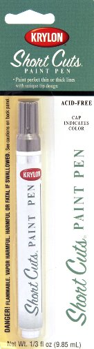 Krylon KSCP902 Short Cuts Paint Pen, Chrome Metallic, .33 Ounce