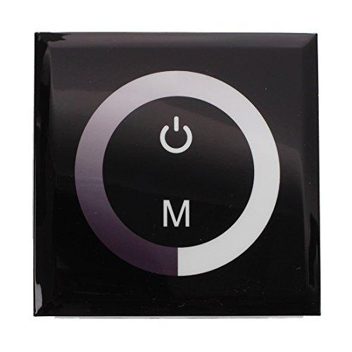 Iycorish Touch Einbau LED Dimmer Controller Glas Design Steuerung Panel 4A 12-24V Schalter fuer Wandeinbau Wanddimmer