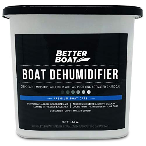 Boat Dehumidifier Moisture Absorber and Charcoal Deodorizer Remove Damp Musty Smell | Basement Closet Home RV or Boating