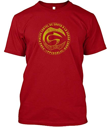 PEIJUNLAI T Shirts for Men G-B15 Cartel De Santa Funny Novelty Tops Mens tee Shirts L