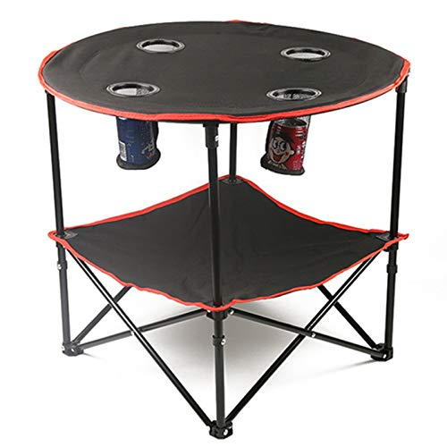 Mesa de picnic plegable portátil, mesa de picnic al aire libre con bolsa de almacenamiento, mesa plegable de viaje conveniente tipo lienzo, se puede utilizar en todas las escenas al aire libre