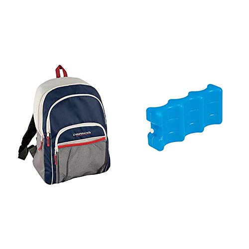 CAMPINGAZ Backpack - Nevera flexible, 14 l + Acumulador Frio, Azul, 22 x 10.50 x 5 cm