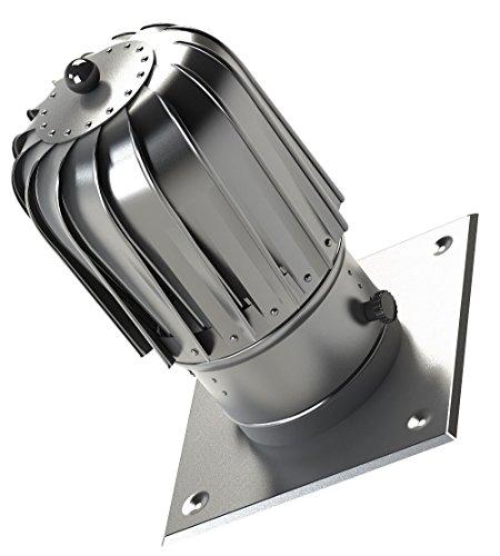 150 millimetri in alluminio sottile canna fumaria filatore plug-in di filatura cappuccio con lamiera del tetto in più