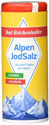 Bad Reichenhaller Salz Jod plus Fluor plus Folsäure, 8er Pack (8 x 125 g)
