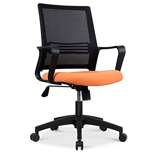 Silla de Oficina Silla de Escritorio Cómoda silla de escritorio con respaldo medio de malla para el hogar, diseño ergonómico, sartén con asiento tapizado de malla, giratoria de 360 grados, capacidad