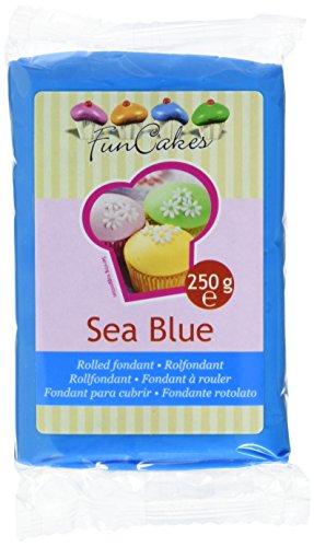 FunCakes Fondant, meeresblau, 1er Pack (1 x 250 g)
