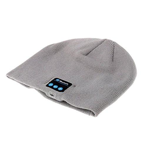 Pdxd-share Bluetooth d'hiver Bonnet en Tricot Unisexe Chapeau avec Haut-Parleur stéréo Casque Micro et Mains Libres