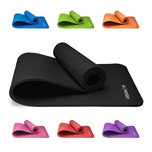 Tapis Yoga Antidérapant KG | PHYSIO (1cm), Qualité Premium Tapis de Sol Fitness pour la Salle de Sport, Pilates ou à la Maison avec...