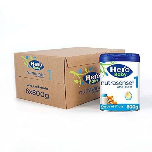 Hero Baby Leche Premium 1 -Para niños de hasta 6 meses - Pack de 6 x 800 gr