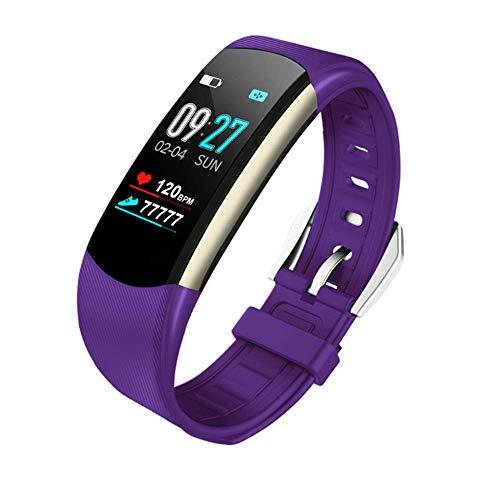 Smart Watch, Waterdichte Activiteit Tracker, Stappenteller Watch, Fitness, Hartslag Slaap Monitor En Voetstappen voor Kinderen, Dames, Mannen, Senioren, Paars