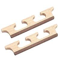 5弦バンジョー交換用の2本76mmローズウッドバンジョーブリッジ