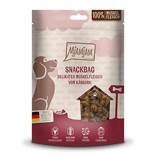 MjAMjAM - Premium Hundesnack - Snackbag - delikates Muskelfleisch vom Känguru, getreidefrei, Monoprotein, 100g, 45207