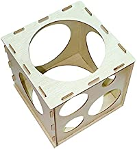 9 Holes Collapsible Wood Cube Balloon Sizer Box From 2