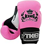 Top King Muay Thai Boxing Gloves TKBGSA Gloves Super Air - White/Pink/Black, 10 oz